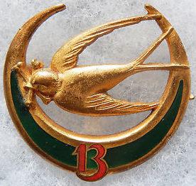 Знаки 13-го полка Алжирских стрелков.