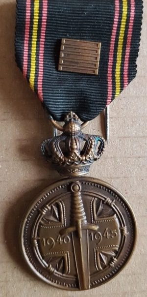 Аверс и реверс медали военнопленных 1940-1945.