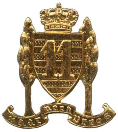 Знак 11-го пехотного линейного полка.
