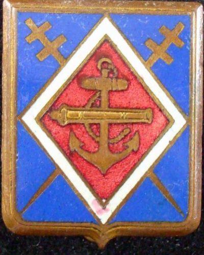 Знак 1-го колониального артиллерийского полка.