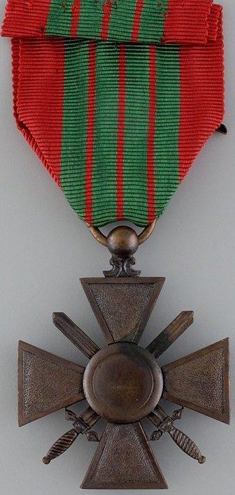 Реверс Военного креста 1939-1945, изготовленного в Лондоне.