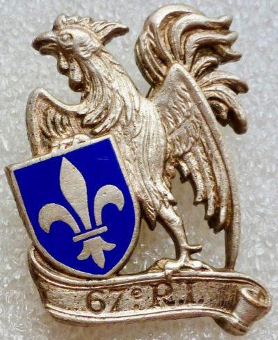 Аверс и реверс знака 67-го пехотного полка.
