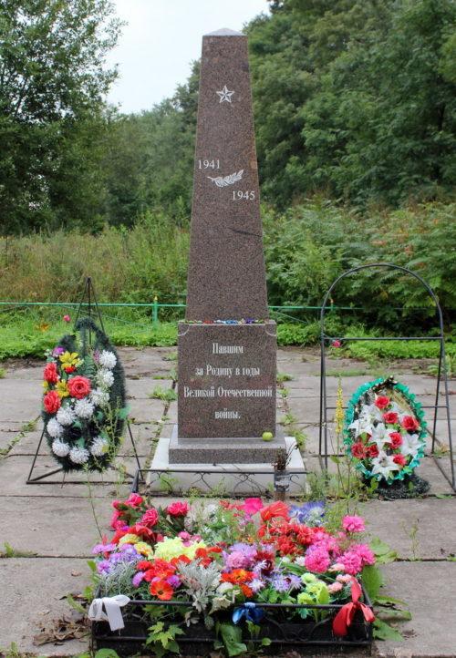 д. Новолисино Тосненского р-на. Памятник воинам, павшим за Родину.