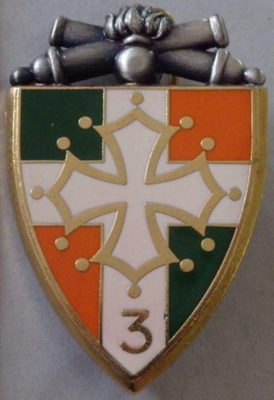 Аверс и реверс знака 3-го артиллерийского полка.