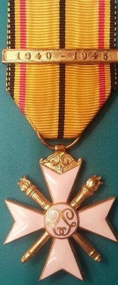 Крест 1-го класса Гражданского знака отличия 1940-1945.