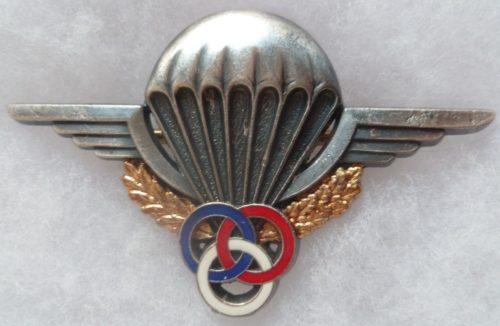 Знак инструктора-парашютиста 2 класса.