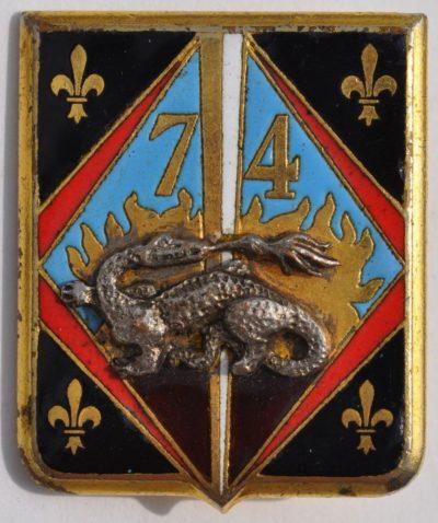 Аверс и реверс знака 74-го пехотного полка.