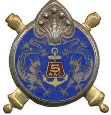 Знак 5-го колониального артиллерийского полка.