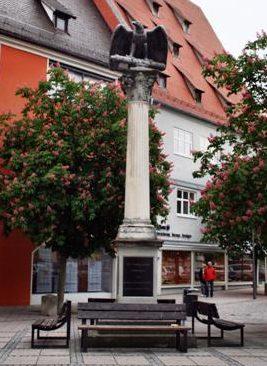 г. Мемминген. Памятник землякам, погибшим во Второй мировой войне.