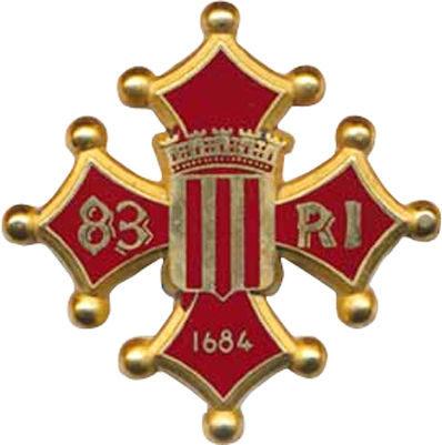 Аверс и реверс знака 83-го пехотного полка.