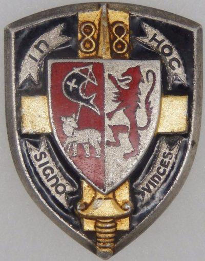 Аверс и реверс знака 88-го пехотного полка.