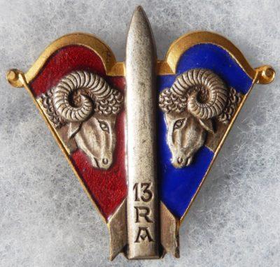 Аверс и реверс знака 13-го артиллерийского полка.