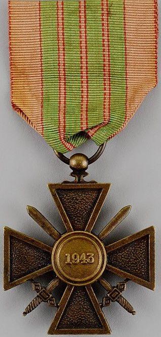 Аверс и реверс Военного креста генерала Жиро.