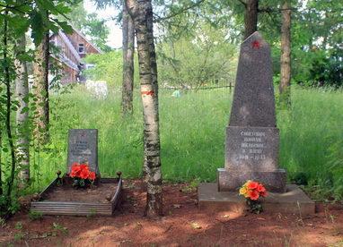 п. Ульяновка Тосненского р-на. Памятный знак советским воинам, погибшим в плену.