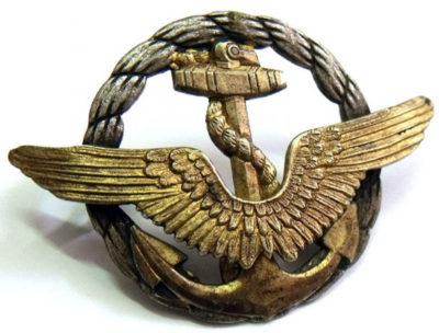Знак пилота морской авиации.