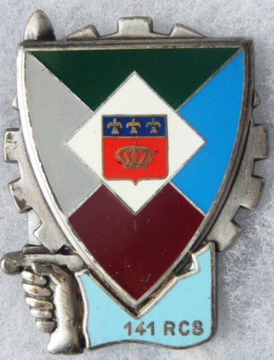 Аверс и реверс знака 141-го полка командования и поддержки.