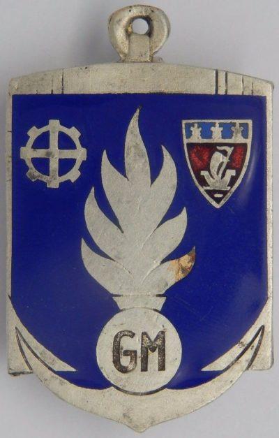 Аверс и реверс знака управления морской жандармерии.