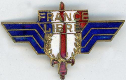 Аверс и реверс знака Свободных французских сил.