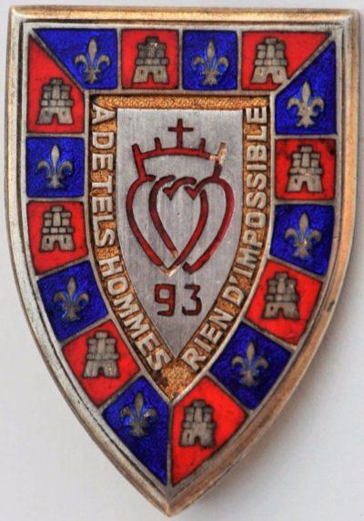 Аверс и реверс знака 93-го пехотного полка.