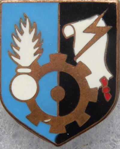 Аверс и реверс знака административно-технического центра жандармерии.