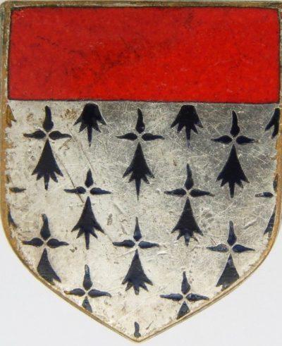 Аверс и реверс знака 3-го мобильного дивизиона жандармерии.