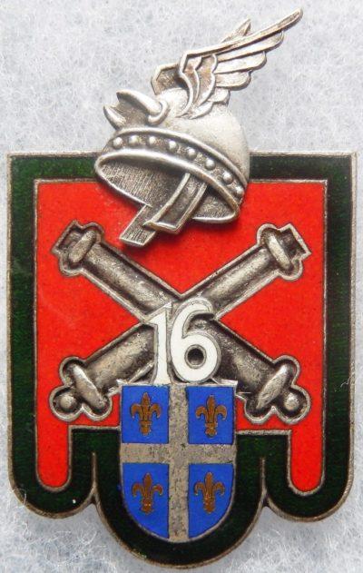 Аверс и реверс знака 16-го артиллерийского полка.