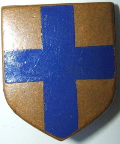 Аверс и реверс знака 9-го мобильного дивизиона жандармерии Марселя.
