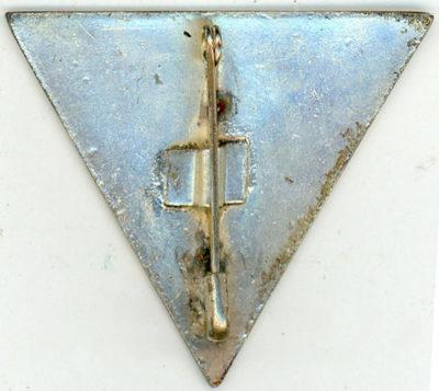 Аверс и реверс знака ПВО сухопутных войск.