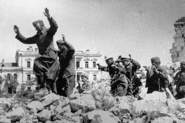 Пленные немцы. Май 1944 г.