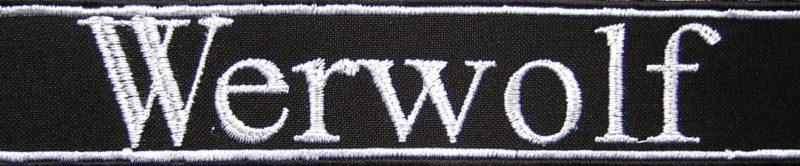 Манжетная лента подразделения фолькштурма «Вервольф».