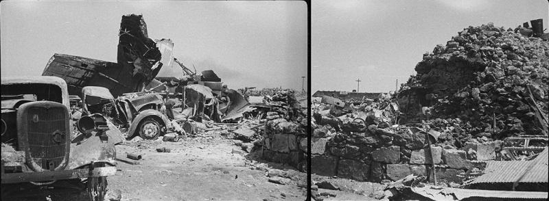 Разбитая немецкая техника в херсонеском аэропорту. Лето 1944 г.