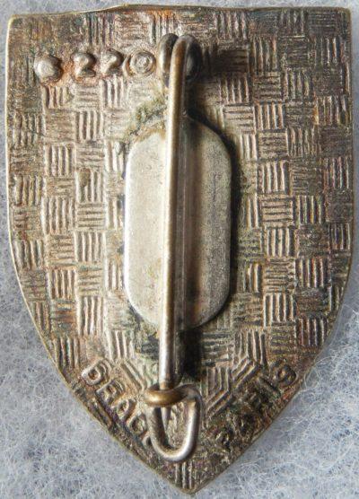 Аверс и реверс знака 99-го пехотного полка.