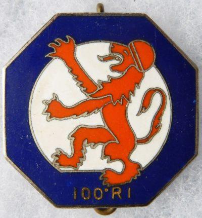 Аверс и реверс знака 100-го пехотного полка.