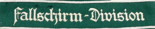 Манжетная лента 1-й парашютной дивизии «Fallschirm-Division».