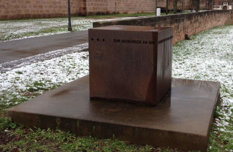 г. Нюрнберг. Мемориал цыганам – жертвам нацистов.