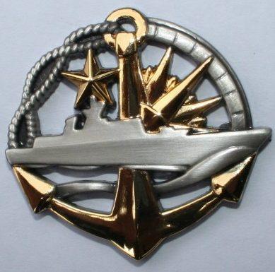 Знак командира надводного корабля.