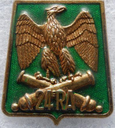 Знаки 24-го артиллерийского полка.