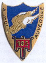 Знак 105-го пехотного полка.