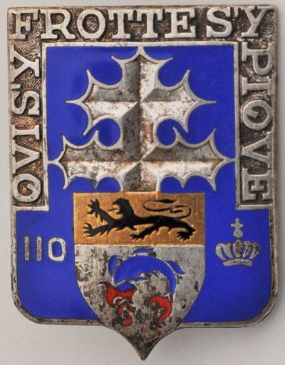 Аверс и реверс знака 110-го пехотного полка.