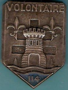 Знак 114-го пехотного полка.