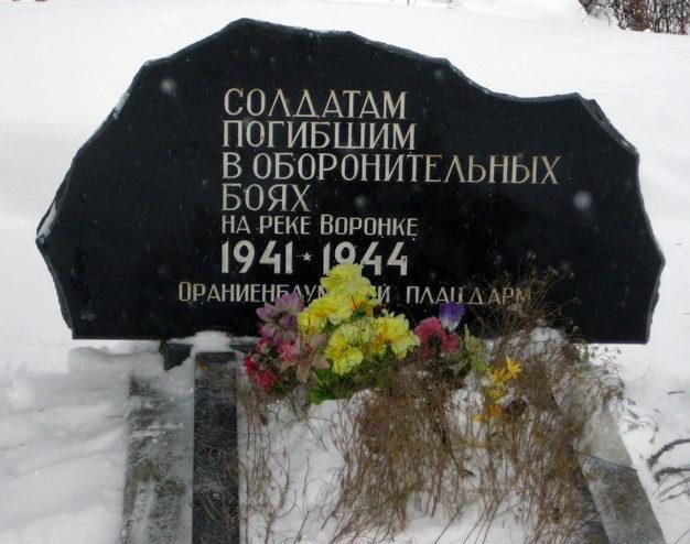 г. Сосновый Бор. Братская могила с тыльной стороны мемориала «Берег Мужественных».