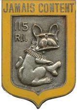 Знак 115-го пехотного полка.