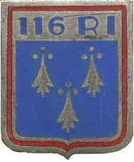Знак 116-го пехотного полка.