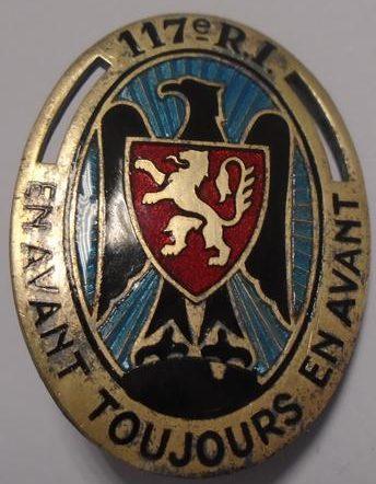 Знак 117-го пехотного полка.