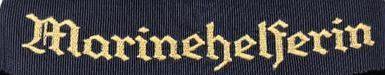 Манжетная лента морского помощника Гитлерюгенда «Marinehelferin»