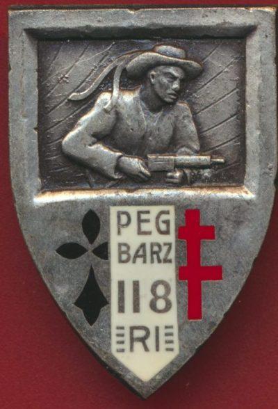 Знак 118-го пехотного полка.