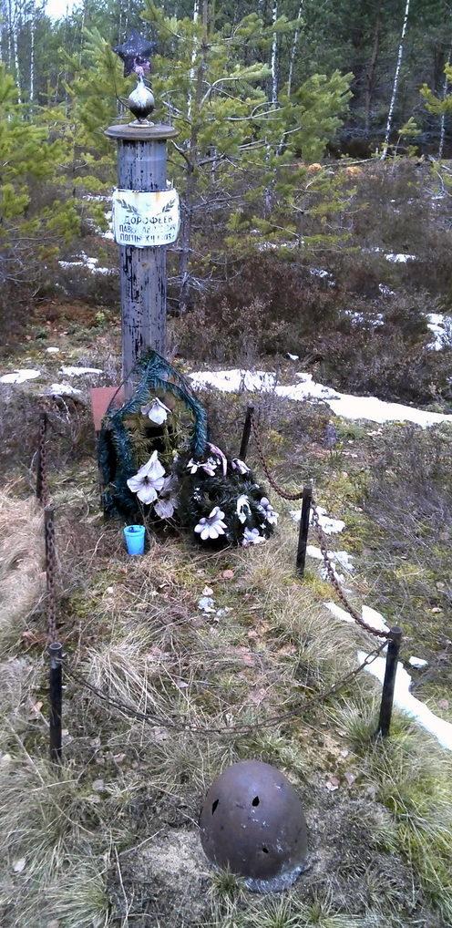 д. Дубо Сланцевского р-на. Памятник советским воинам.