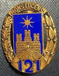 Знак 121-го пехотного полка.