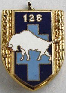 Знаки 126-го пехотного полка.