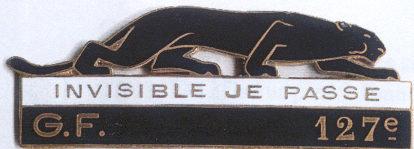 Знак 127-го пехотного полка.